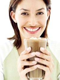 Woman Drink Cocoa