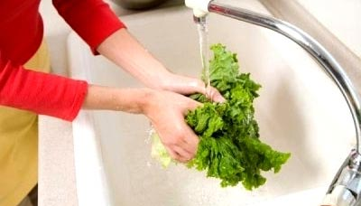 Washing Vegetables