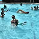 Laps in children's pool