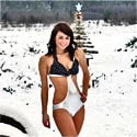 Skimpy wear in snow